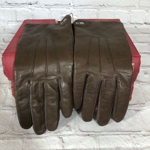 Coach Leather Gloves. S
